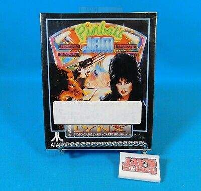 Pinball Jam Video Game for Atari Lynx Sealed 1992 Atari ELVIRA