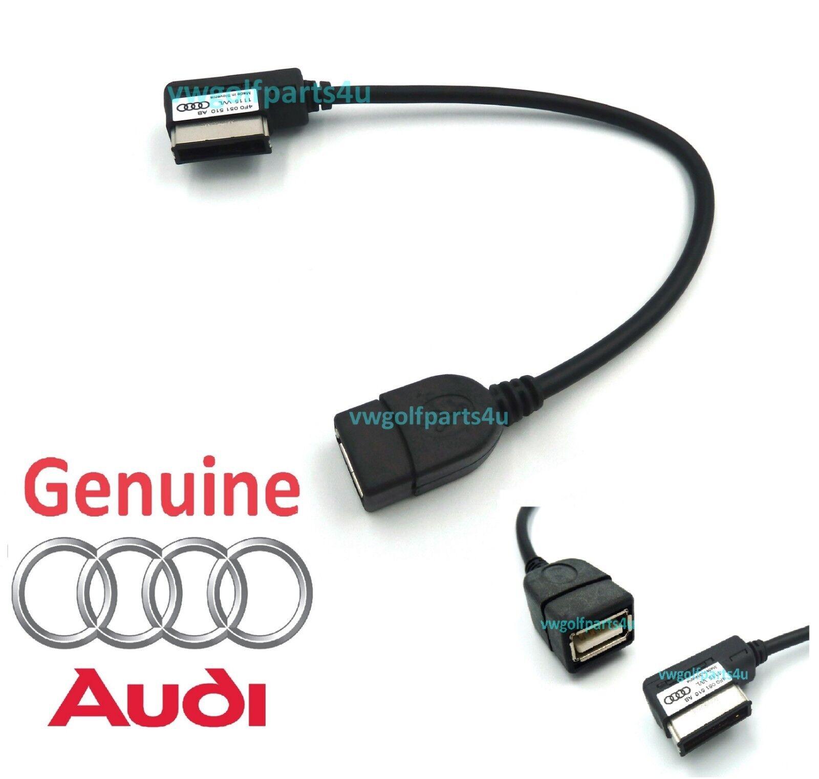 Car Parts - Genuine Audi AMI Lead music iPod MP3 Memory Stick Cable to USB 4F0051510AB