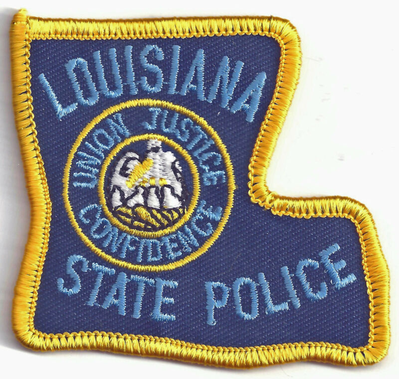 LOUISIANA STATE POLICE - SMALL SHOULDER PATCH - IRON OR SEW-ON PATCH
