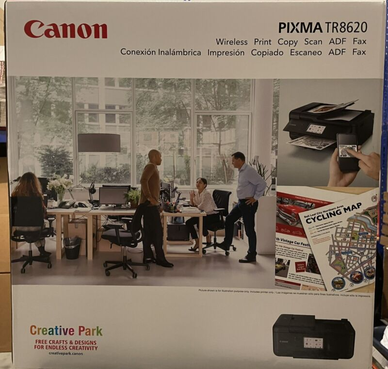 Canon Pixma TR8620 Wireless All-In-One Inkjet Printer with Fax Black