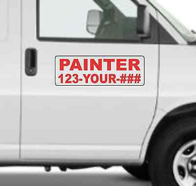 Custom PAINTER Magnetic Signs for Car Truck SUV 6