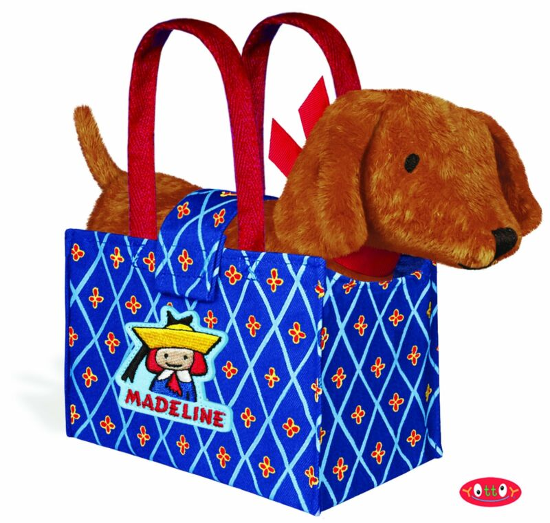 """Yottoy - Genevieve Puppy Dog Plush in Madeline Tote Bag, 9"""""""