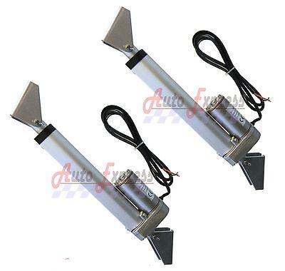 2 Linear Actuator 16  Inch W  Brackets Stroke 12 Volt Dc 200 Pound Max Lift Set
