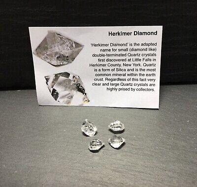 Herkimer Quartz Diamond 5-7mm 0.5-0.6g High Vib Chakra Spiritual Dreams Crystal