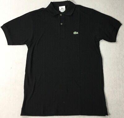 Lacoste Men Pique Slim Fit Polo L1212 Black Size 3 / XS