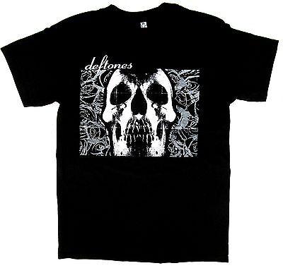 DEFTONES T-shirt Rock Nu Metal Skull Tee Adult Mens S,M,L,XL,2XL Black New