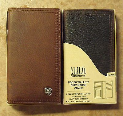 ARIAT GENUINE LEATHER RODEO WALLET/CHECKBOOK COVER Rodeo Checkbook Wallet