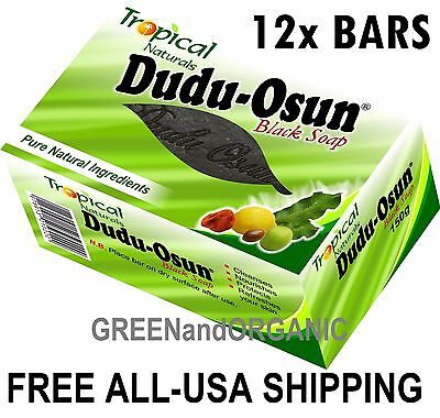 12 Bars Original DUDU OSUN AFRICAN BLACK SOAP Tropical Natural Herbal Unrefined