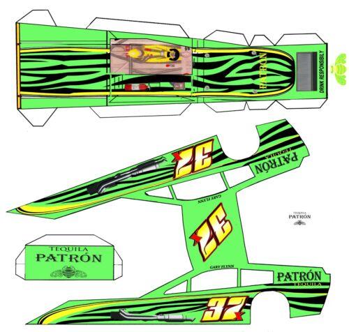 "#37 PATRON Tequila  Asphalt Modified Laminated Body Slot Car 4"" 1/24th"
