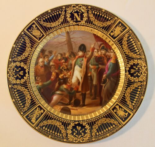 RARE & BEAUTIFUL ROYAL VIENNA NAPOLEON CABINET PLATE 19TH CENTURY