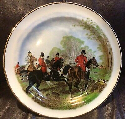 Fox Hunt Hunting Plate Herring Woods And Sons 3 - $28.99