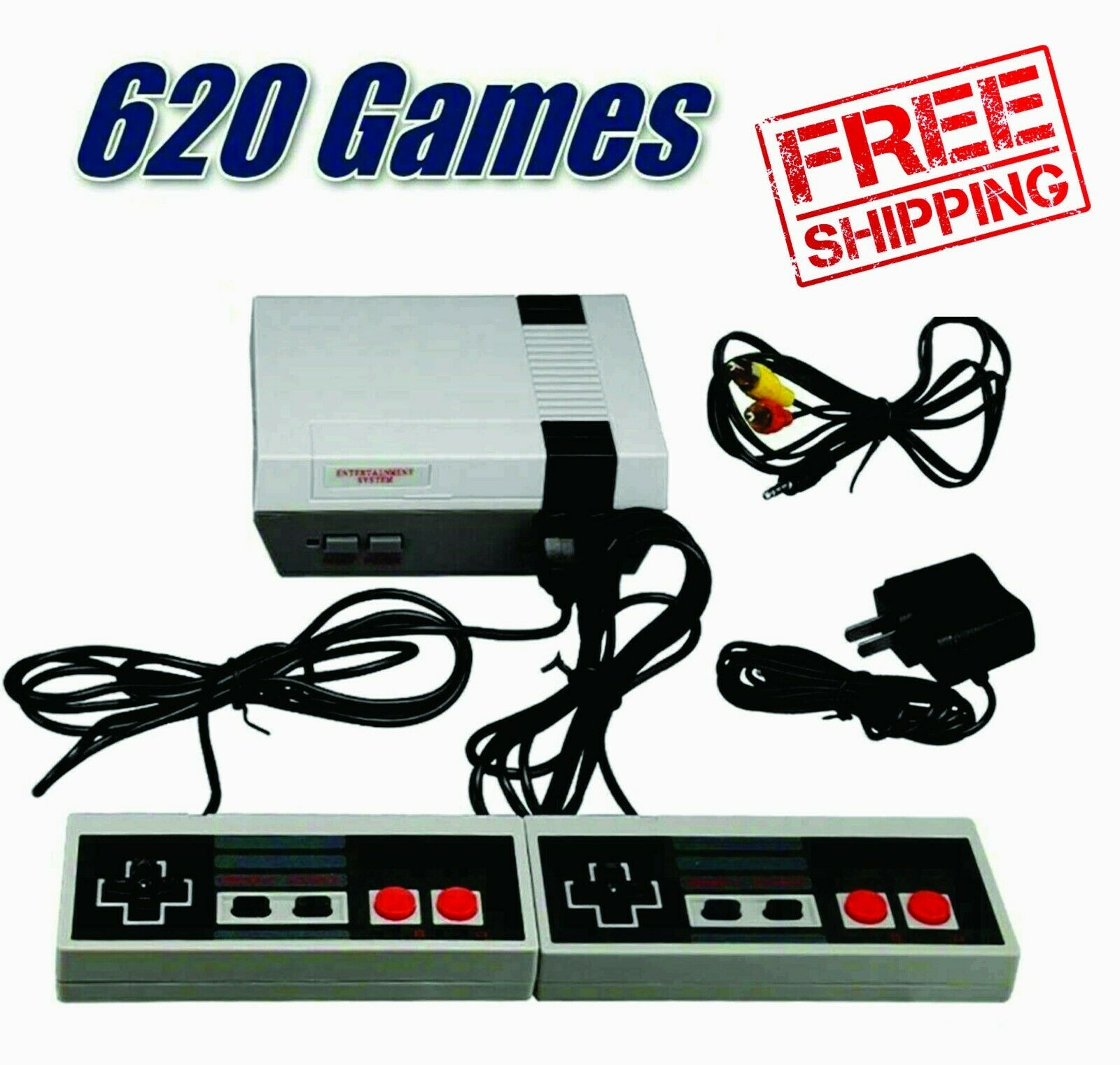 Nintendo Game Console 620 Built-in Mini Classic NES Games With 2 Controllers
