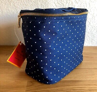 NWT Kate Spade Navy Larabee Dot Lunch Tote, Cosmetic Bag, Storage Bag MSRP: $30