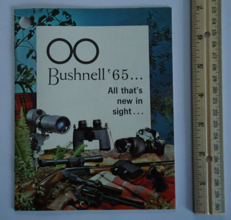 Bushnell Binoculars Telescopes Riflescopes Microscopes 1965 Catalog