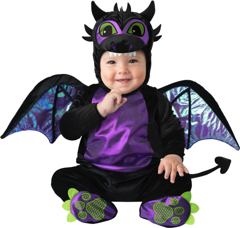 Baby Dragon Purple Black Child Baby Infant Costume NEW Maleficent