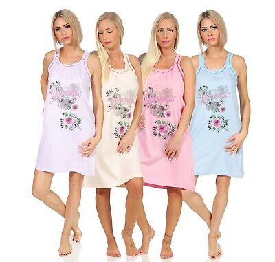 Nachthemd Schlafen (Sleepshirt Nachthemd Damen Nachtwäsche Trägernachthemd Nachtkleid Shirt M-3XL)