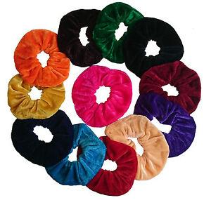 Large SET of 12 Velvet Hair Scrunchies Elastic Scrunchy Hair Bobbles
