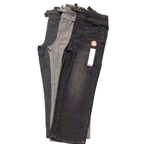3 Jumping Beans Toddler Boys Denim / Twill Pants Gray Black Murke Gray size  4T