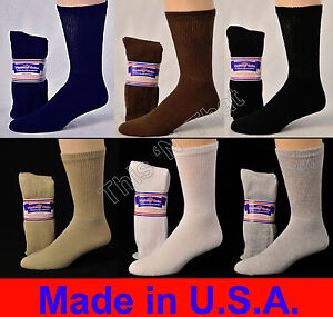 Diabetic-Cushioned-Crew-Socks-3-6-or-12-Pair-Mens-Womens-Ladies-Sizes-9-15