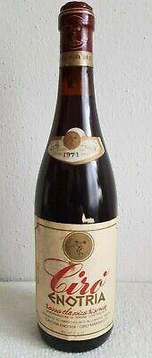 Rotwein Italien, CIRO Enotria Rosso Classico Riserva, Jahrgang 1971