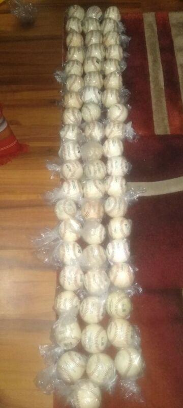 85 used baseballs all leather baseballs MLB and MILB pearls white logo Rawlings