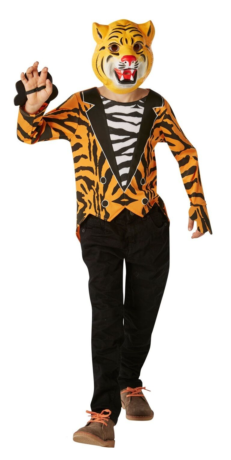 boys mr. tiger fancy dress costume outfit book day week halloween