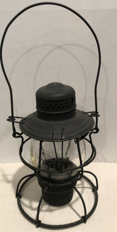 ROCK ISLAND LINES RAILROAD LANTERN – Clear Cast Globe