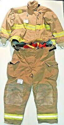 Globe Morning Pride Brown Firefighter Turnout Set Jacket 58x38 Pants 52x32 S68
