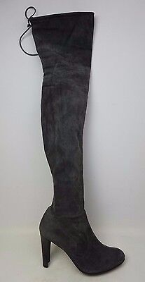 Stuart Weitzman Highland Over the Knee Slate Grey Suede Boots Size 11.5 M