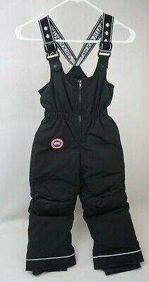 Canada Goose Black Wolverine Snow Pants Boys Girls Kids Size XS 6 Years 9242Y