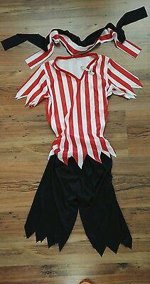 Piraten Fastnacht Fasching Kostüm für Kind 6-7 Jahre, neu