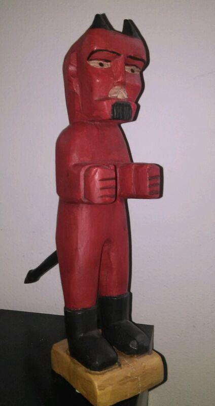 LITTLE RED DEVIL==GUATEMALAN FOLK ART= HALLOWEEN
