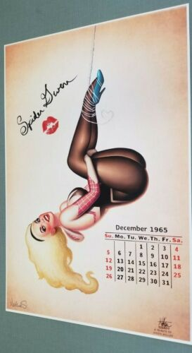 SEXY VOLUPTUOUS SPIDER-GWEN NATHAN SZERDY SIGNED PRINT 12 x 18 #oa-71