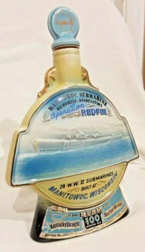 Submarine Bottle - Sailor gift - Manitowoc - Operation Redfin - WWII - Jim Beam