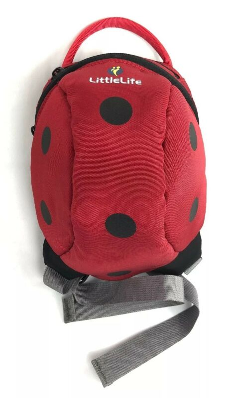 "LittleLife Toddler / Pet Backpack Lady Bug Bag 8""x7""x4"" NO LEASH/Strap INCLUDED"