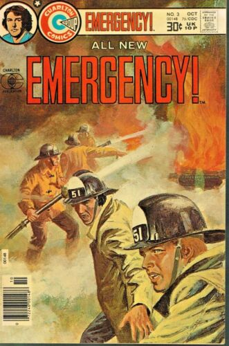 """OCTOBER 1976 ISSUE OF """"EMERGENCY!"""" COMIC BOOK - USED - GOOD CONDITION"""
