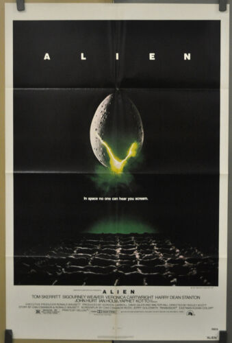ALIEN 1979 ORIGINAL 27X41 NEAR MINT MOVIE POSTER SIGOURNEY WEAVER JOHN HURT