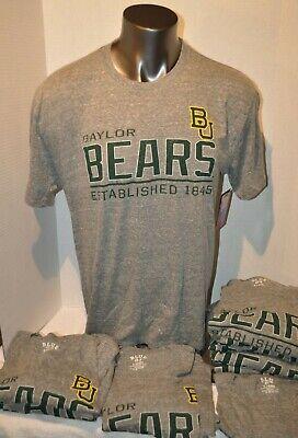 Gray Baylor University BU Bears NCAA T Shirt College School Tee Mens XL N W Tag  Baylor University Bears