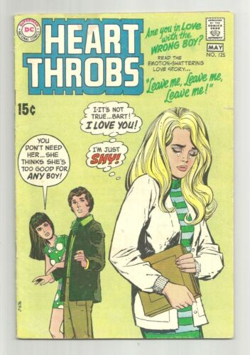 """Heart Throbs #125 DC Comic 1970 """"Are You In Love With The Wrong Boy"""""""