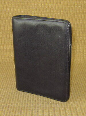 Compact 1 Rings Black Leather Franklin Covey Open Plannerbinder