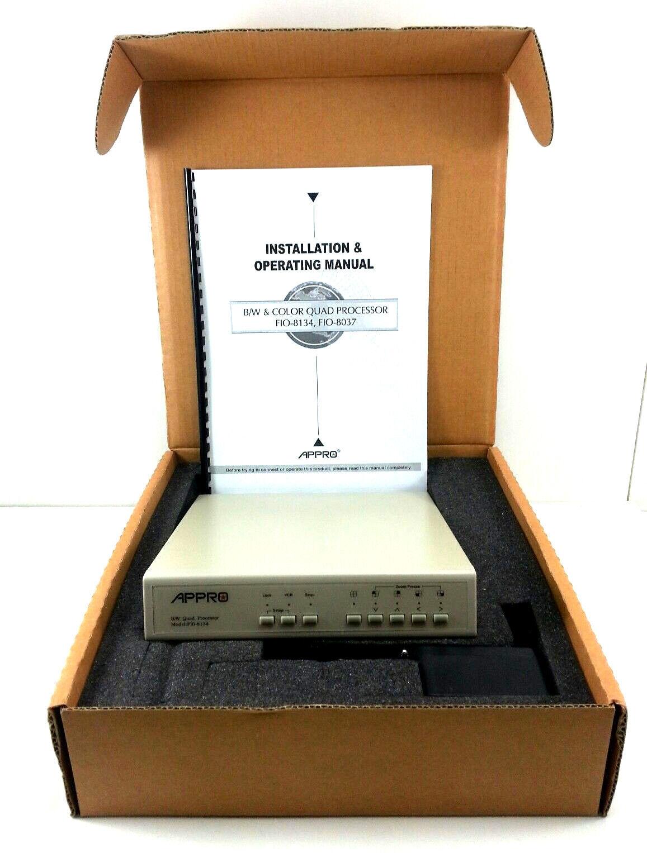 Appro Tech Model FIO-8134N Black White Quad Processor Surveillance New In Box