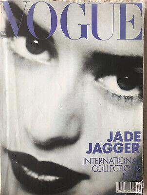 Vintage VOGUE September 1990 Jade Jagger 90's Supermodels  30th Birthday Gift