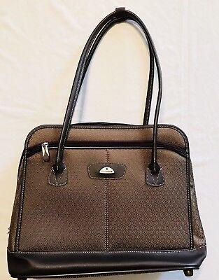 Samsonite Luggage Brown Carry-On Suitcase Laptop Travel Bag Weekender