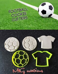Soccer / Football Uk Seller Plastic Biscuit Cookie Cutter Fondant Cake Decor