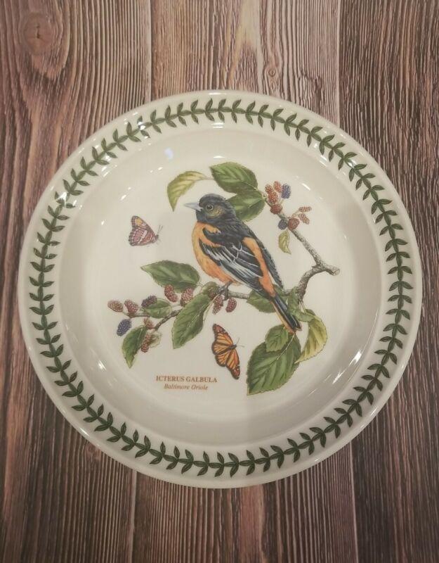 Portmeirion BOTANIC GARDEN BIRDS Baltimore Oriole Salad Plate