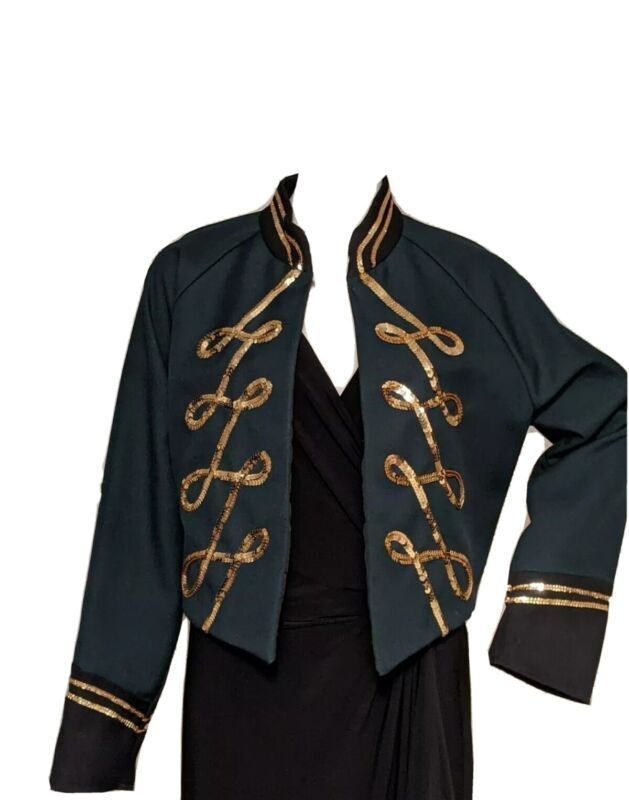 MARCHING BAND UNIFORM JACKET GOLD SEQUENCE