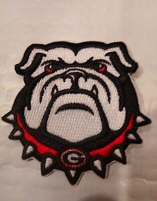(UGA University of  Georgia Bulldogs Vintage Embroidered Iron On Patch  3