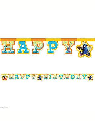 6ft x Disney Pixar Finding Dory Nemo Happy Birthday Letter Banner Decoration ()