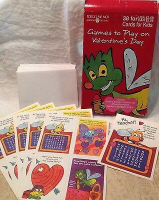 Vintage 1990 Valentines Cards For Kids American Greetings Games to Play (Valentine Games For Kids)