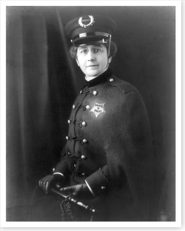 1914 Muncie Indiana IN Police Woman Policewoman 8 x 10 Silver Halide Photo